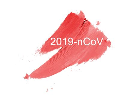 2019-nCoV Novel Coronavirus concept on white