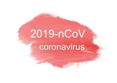 2019-nCoV Novel Coronavirus concept on white