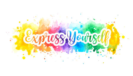 Express yourself concept, motivation poster.