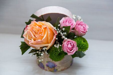 A wonderful flower arrangement with spring flowers