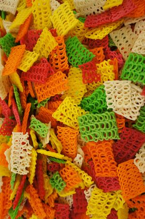 tasty colorful crackers