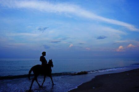 horse riding: horse riding beach