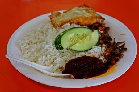 nasi: the staple food of the Malay community Nasi Lemak
