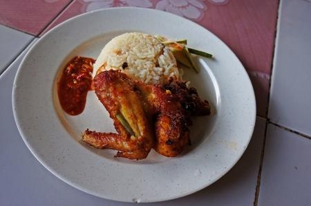 malay food: Malay Food Nasi Minyak Stock Photo