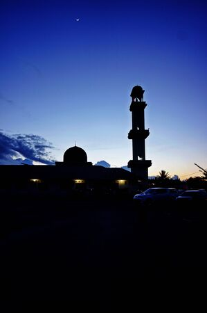 Landscape sunset mosque