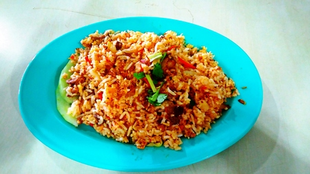 specials: malay traditional food fried rice meat