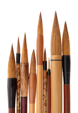 Chinese, Japanese, and Korean brushes (for writing) Stock Photo - 3797492