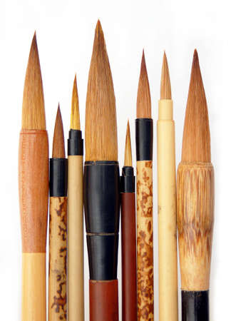 Chinese, Japanese, and Korean brushes (for writing) Stok Fotoğraf