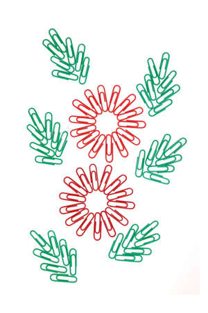 a flower symbol is created from paper clip