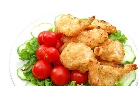 breaded coconut shrimps