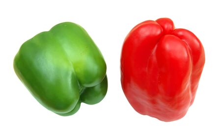 two bell pepper isolated on white