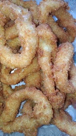 Squid rings in breadcrumbs