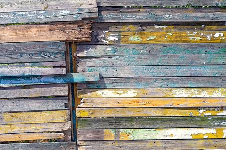 Vintage wood background. Grunge wooden weathered oak or pine textured planks.