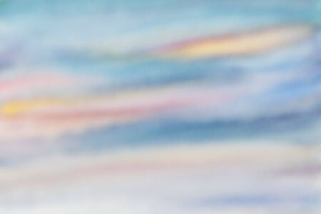 Blurred sky background with blue and orange clouds Imagens - 132164263