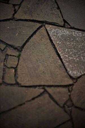 Wild stone floor closeup. Irregular shapes pattern
