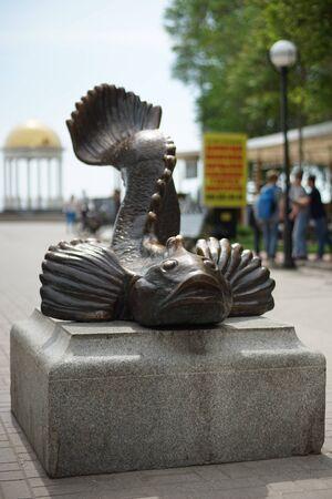 Monument to Goby Fish breadwinner in Berdyansk, Ukraine