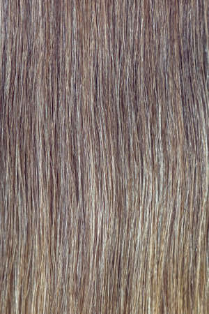 Brown hair close up for background. A lock of brown hair. Фото со стока