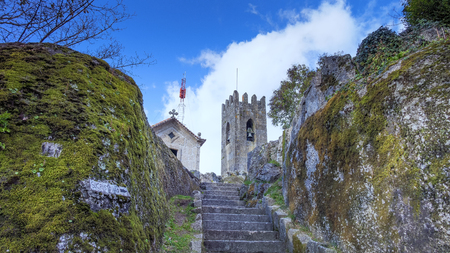 GUIMARAES, PORTUGAL - Architecture of the Toural square of Historic Centre of Guimaraes, Portugal. UNESCO World Heritage