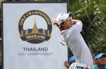 lpn: THAILAND GOLF CHAMPIONSHIP  DECEMBER 12,15 2013 Amata Spiong Country Club, Chonburi ,Roy ISHIKAWA (LPN) Hole 17-Par 3 (145 Yds).