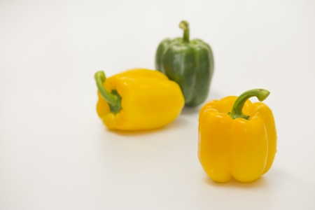 palatable: Yellow and Green sweet peppers Fresh and palatable.