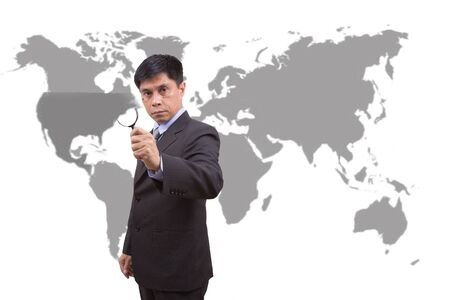 speculate: The analyst interested in United States. Stock Photo