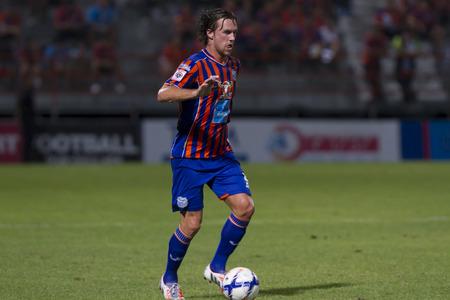 brent: BANGKOK,THAILAND:JUNE 2015:FW,Mcgrath Brent Colm No.9;PORT F.C.OBvs Nakhon Ratchasima Mazda F.C.Wat PAT Stadium;inThai Premier League on15July2015,Bangkok Thailand.