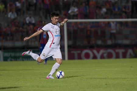 premier league: BANGKOK,THAILAND:JUNE 2015: 11 Lineups of Nakhon Ratchsima;PORT F.C.OBvs Nakhon Ratchasima Mazda F.C.Wat PAT Stadium;inThai Premier League on15July2015,Bangkok Thailand.