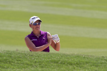 pace: CHONBURI ,THAILAND-February 28:Lee-Anne PACE South Africa in action during Honda LPGA Thailand 2015 at Siam Country Club on February;28;2015;Pattaya, Thailand. Editorial
