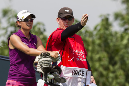 country club: CHONBURI ,THAILAND-February 28:Lee-Anne PACE South Africa in action during Honda LPGA Thailand 2015 at Siam Country Club on February;28;2015;Pattaya, Thailand. Editorial
