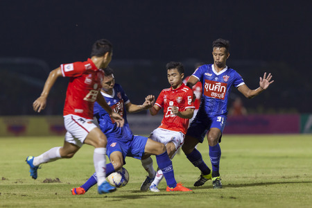 premier league: BANGKOK,THAILAND:November 2015:Chanathip of Tero in football Toyota Thai Premier League between BEC Tero Sasana FC and Saraburi FC at 72nd Anniversary Stadium on November,29,2015;Thailand. Editorial