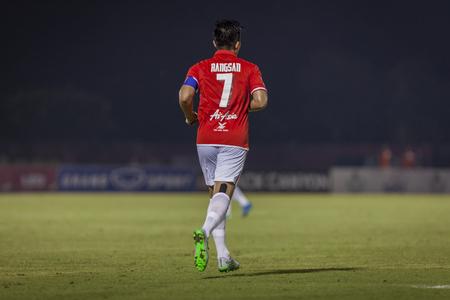 premier league: BANGKOK,THAILAND:November 2015:Rangsan C of Tero in football Toyota Thai Premier League between BEC Tero Sasana FC and Saraburi FC at 72nd Anniversary Stadium on November,29,2015;Thailand.