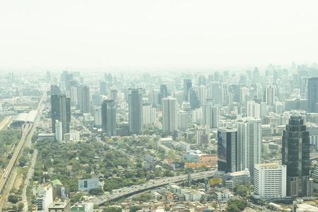 High angle view of Thai capital.