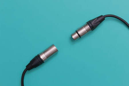 XLR cable microphone connector. Male and female Stock Photo