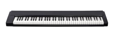 octave: Midi electric piano on white background. Front view