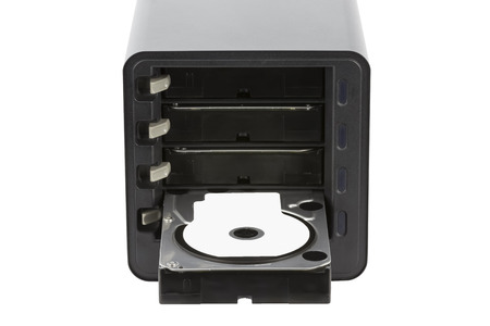 NAS, Hard Drive Enclosure, HDD. Isolated on white background