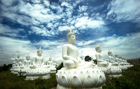 unesco world cultural heritage: Buddha statue image Stock Photo