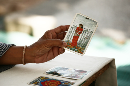 telepathy cards: Tarot cards and