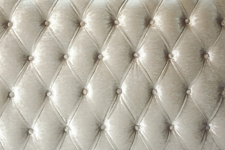 flannel: Texture of vintagebuttoned flannel stylish upholstery Stock Photo