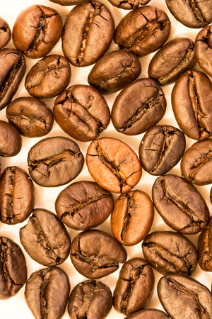 coffee beans close up shot in macro mode Stock Photo