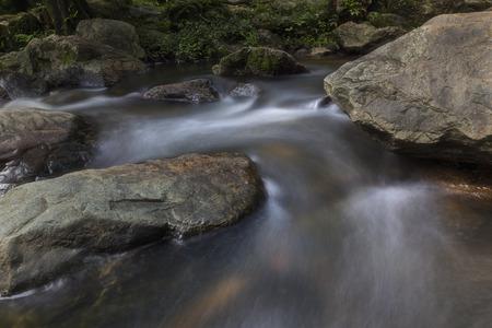Beautiful waterfalls in national park in Thailand. Khlong Lan Waterfall, Kamphaengphet Province Stock Photo