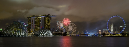 national day: singapore national day celebration fireworks