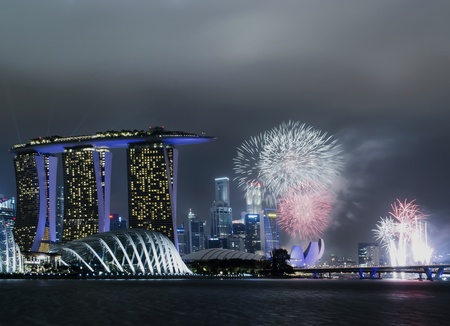 singapore national day celebration fireworks