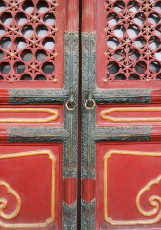 Door decorations in Forbidden city