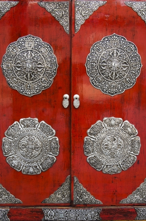 Doors of an elobrated chinese style closet