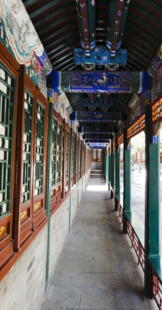 corridor decoration of the summer palace beijing china Stock Photo