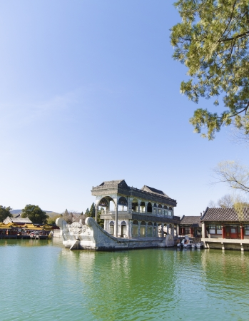 stone boat of the summer palace Beijing China