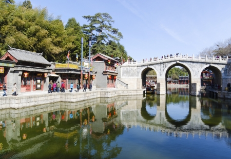 suzhou street in summer palace beijing china
