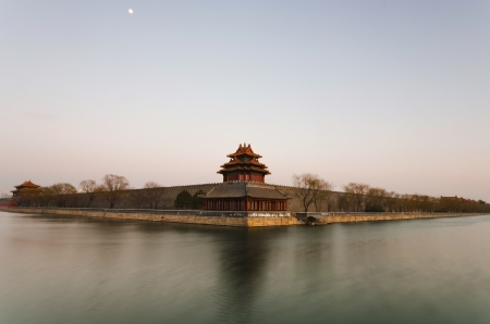 west watch tower of forbidden city beijing china