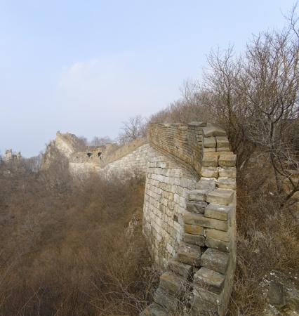 great wall of china unrestored photo