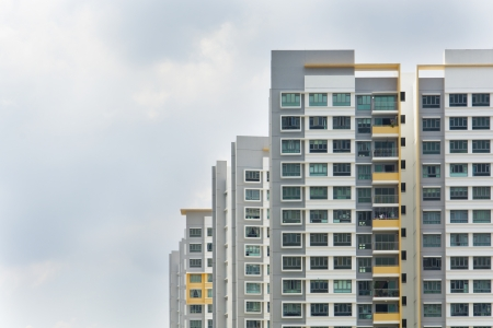 concrete blocks: New Singapore government appartments Stock Photo